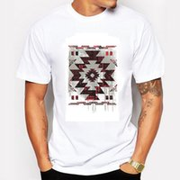 aztec print shirt - New Summer Men T Shirts Printing Aztec Pictographic Writing Character Design Cotton Short Sleeve TOP T Shirts For Men