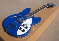 Wholesale OEM Guitar New Arrival EV solid blue electric guitar chrome parts strring