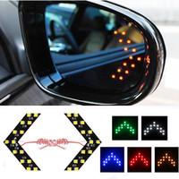 12V arrow signal lights - 2Pcs Hiding Style LED Arrow Turn Signal Light Colors Car LED Side Mirror LED Guide Light Turn Signal Arrows Light