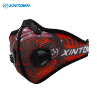 activated carbon cloth - mask face XINTOWN Mask Anti Pollution Ciclismo Cycling Mask Half Face Mask With Filter Neoprene Mask Activated Carbon Mesh Cloth