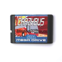 Wholesale DC MD SS SEGA Memery Cards Crazy Bus bit MD Game Card For Sega Mega Drive For Genesis