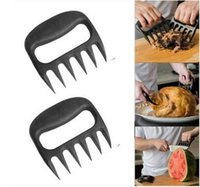 Wholesale 2pcs Grizzly Claws Meat Handler Fork Tongs Pull Shred Pork BBQ Barbecue Tool Claws Forks