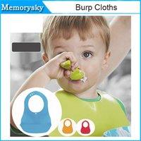 Wholesale hot sell Baby silicone Bib Baby Kids Burp Waterproof Bandana Bib Infant Feeding Cloth Towel Washable Bibs Mix Colors