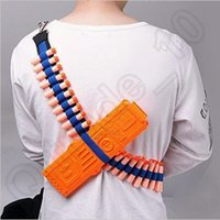 belt cartridge holder - 50pcs CCA3684 EVA Bullet Strap Toy Gun Soft Belt Shoulder Strap Clip Charger Darts Ammo Storage For Nerf N Strike Blasters Cartridge Holder