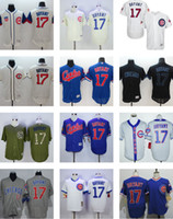 Wholesale Men s Kris Bryant Black White Grey Blue Green Chicago Cubs Jersey Top Quality Drop Shipping Accept Mixed orders Baseball shirt