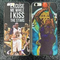 basketball souvenirs - For Iphone SE S S Plus Silk Leather Basketball Team Hard Plastic PC TPU Case Souvenir Retire Kobe Bryant Shooting Back Cover