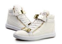 al por mayor zapato de hebilla de cierre de cremallera-Diseño Hombres zapatillas de deporte de la moda del top del alto de los hombres zapatos ocasionales de las zapatillas de deporte Marca Modelo cocodrilo hombres de la cremallera de la hebilla del metal de la correa