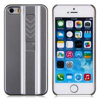 achat en gros de gros couvertures légères-Vente en gros Fire Cigarette briquet chargé USB Aluminium Metal Cover Case pour iPhone 4 4.7inch plus