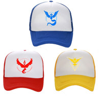 adult team games - Cosplay Mobile game Poke Go Adjustable Snapback Caps Team Valor Team Mystic Team Instinct snapbacks baseball Cap hat