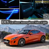 atmosphere types - interior Ambient Light Tuning Atmosphere Fiber Optic Band Lights For Jaguar F Type F Type Door Panel illumination Refit