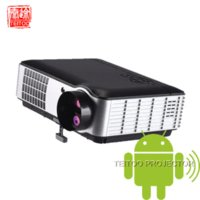 Wholesale 000Lumens Android Built in Digital Home Cinema LED Projectors Review Office Equipment Project Professional Supplier Cheap projector