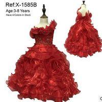Wholesale 2016 halter beads ball gown flower girl dresses for weddings girls pageant dresses prom dress children custom made