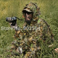 Wholesale NEW Sets Military Hunting Tactical Camo D Leaf Birdwatching Clothes Camouflage Ghillie Bionic Training Bowhunting Suit