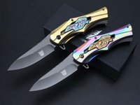 aluminum utility - Newest Transformer Titanium Tactical Folding Knives CR15MOV HRC Colorful Full Steel Hunting Survival Pocket Knife Military Utility EDC