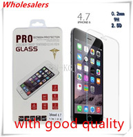 Wholesale Premium Tempered Glass Screen Protector Film H For Apple iPhone S S PULS Samsung Galaxy S2 NEW