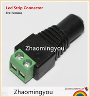 Wholesale DHL New x mm DC Power Female Plug Jack Adapter Connector Plug for CCTV LED Strip Light