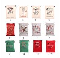 Wholesale Christmas Gift Bags New pc Large Canvas Santa Sack Colors Organic Heavy Canvas Drawstring Bag TOP1405