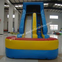 backyard swimming pools - AOQI China inflatable toy customized inflatable water slide cheap inflatable beach slide giant inflatable swimming pool slide for sale