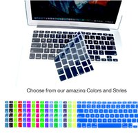 Wholesale Soft Silicone Colorful Keyboard Cover for MacBook Air New Pro quot quot quot Retina Air quot USA KEYBOARD VERSION