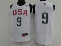 Wholesale 2016 Rio Olympic Games USA dream twelve basketball jersey Men s sports jersey Men basketball jerseys White