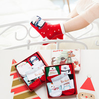 Wholesale New Christmas Design cotton warm babies socks design special package gift card