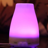 Wholesale Fashion Color Rainbow LED Aroma Diffuser Air Humidifier Aromatherapy Purifier Mist Maker For Home Office ml LED Humidifiers Air Cleaning
