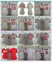 Wholesale New Women St Louis Cardinals Baseball Jersey Yadier Molina Matt Carpenter Michael Wacha White Cream Red Grey Ladies Jerseys
