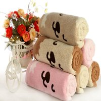 Wholesale Jinhao towels cm cm Thick Soft Cotton Towels Super Long Water absorbent Towel Squinting Dog Lovers