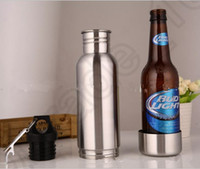 Wholesale Beer Bottle Armour Koozie Keeper Stainless Steel bottle Insulator with Bottle Opener Hot Sell OOA611