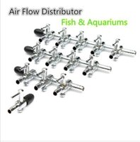Wholesale Stainless Steel Aquarium Fish Tank Air Flow Distributor ways Lever Control Valve The amount of gas pump can be adjusted