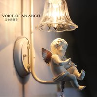 Cheap Hot Sale Nordic modern minimalist European creative decorating the living room staircase led lamps bedside bedroom double Angel Wall lamp