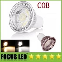 Wholesale 2016 Newest COB Led Bulbs Light W W GU10 Led Spot Lights Lamp High Lumens CRI gt AC V DHL