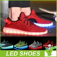 led point - 2016 Top LED Shoes light colorful Flashing Shoes with USB Charge Unisex Fluorescent Couple Shoes For Party and Sport Casual Shoes DHL Free