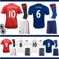 Wholesale DHL Mixed buy MancHESTER Kit Jerseys Third unITED White IBRAHIMOVIC POGBA Rooney Soccer Jerseys football shirts