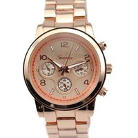 Unisex acrylic crystal watch - Hot Geneva Watch Stainless Steel Watches wristwatches Unisex Business Quartz watches Set Watch Free by DHL