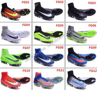Wholesale Cheap New Mercurial Superfly V CR7 FG Soccer Shoes Men Women Kid Original Sport Boots High Ankle Knit Magista Elite Football Cleats