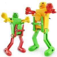 Wholesale Mini Funny manual control Dancing wiggle one s hips robot Clockwork Wind up For Children Kids Toy Gift