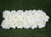 artificial silk flower arrangements - EMS more colors large floral arrangement Wedding arch square pavilion corners decorative silk flower props