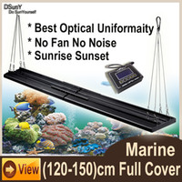 best saltwater aquariums - DSunY W ft Aquarium LED Panels For Saltwater Marine Media Fish tank Coral Reef LED Lighting Sunrise Sunset Best Cover