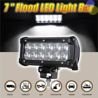 White Left Universally 36W Work CREE LED Light Chips Bar Truck Lamp Wiring Tractor Boat Off-Road 4WD 4x4 12v SUV ATV Flood Super Bright