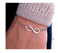 achat en gros de coeur bracelet en or de l'infini-Nouveautés Bracelets Bracelets Bijoux 8 Infinity Coeur trèfle à quatre feuilles Bracelet Femme Accessoires Bijoux Bracelets Bijoux Argent or