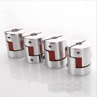 aluminium couplings - 4pcs Aluminium Plum Flexible Shaft Coupling D25 L30 X10mm Motor Connector Flexible Coupler mm To mm