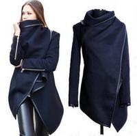 Cheap Hot! 2016 Autumn Winter Women Coats Long Cashmere Overcoats Trench Designed woman Jackets Woman Wool Coats Manteau free shipping