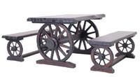 Wholesale Outdoor Furniture Solid Wood Wheel Type Garden Set Wooden Coffee Desk