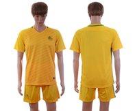 Soccer australia football jersey - 2016 Season Australia Home Yellow Blank Soccer Jersey Short Kits Mens Football Uniforms able custom name number brand new with logo