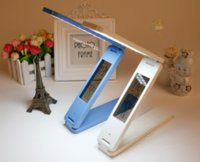 aluminum alarm clock - Dimmable LED Desk Lamps Foldable Rechargable Reading Table Lamp Touch Control Calendar Alarm Clock Temperature Lamp