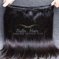7A El pelo humano indio de la virgen de los lotes del pelo humano sin procesar de la Virgen teje el pelo recto sedoso 2 de Bella de la trama doble que envía libremente