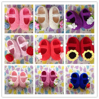 baby goods sale - Hot Sale Baby Crochet Shoes Rose Flower Sun Flower Pattern Many Color Cotton good quality good price very popular