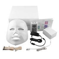 Wholesale 7color Korean Photodynamic LED Facial Mask Home Use Beauty Instrument Anti acne Skin Rejuvenation LED Photodynamic Beauty Face Mask