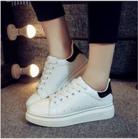 Wholesale Yuan Shanshan same paragraph spring sports shoes within the higher heavy bottomed female student shoes white shoes tide shoes singles s